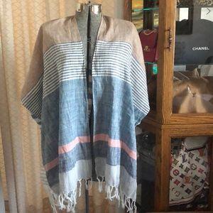 Ann Taylor Loft 100% Cotton Kimono OS